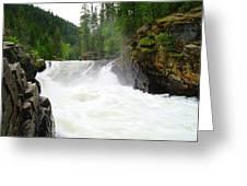 Yaak Falls Greeting Card