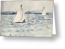 Yacht At Arcachon Greeting Card