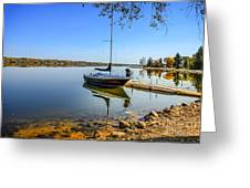 Yacht At The Little Manitou Lake Greeting Card