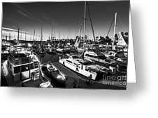 Yacht At The Pier  Greeting Card