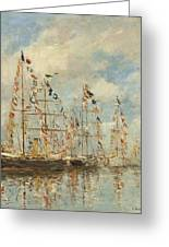 Yacht Basin At Trouville Deauville Greeting Card