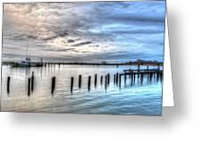 Yacht Storming Morning Greeting Card
