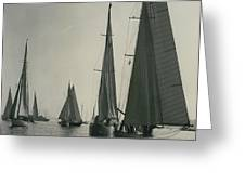 Yachting At Cowes�all They Wan - Is A Breeze Greeting Card