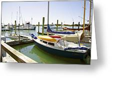 Yachts In A Port 1 Greeting Card