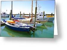 Yachts In A Port 4 Greeting Card