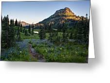 Yakima Peak At Sunrise Greeting Card