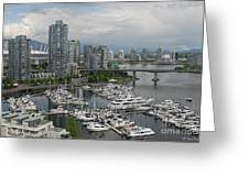 Vancouver From Yale Town Greeting Card