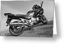 Yamaha Fjr 1300 In Black And White by Gill Billington