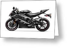 Yamaha R6 Supersport Motorcycle Greeting Card