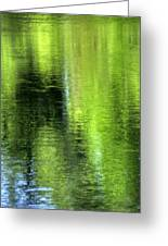 Yamhill River Abstract 24831 Greeting Card