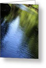 Yamhill River Abstract 24849 Greeting Card