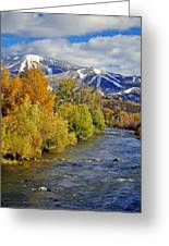 Yampa River Fall Greeting Card