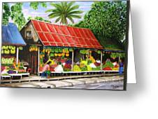 Yangon Fruitstand Greeting Card