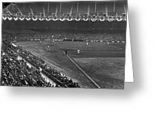 Yankee Stadium Game Greeting Card by Underwood Archives