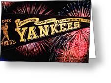 Yankees Pennant 1950 Greeting Card