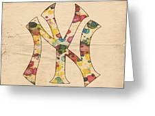 Yankees Vintage Art Greeting Card