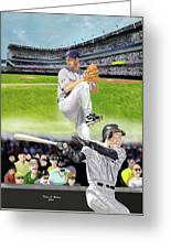 Yankees Vs Indians Greeting Card
