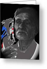 Yaqui Pascola Dancer Smoking Cigarette New Pascua Arizona 1969-2013 Greeting Card