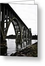 Yaquina Bay Bridge - Series D Greeting Card