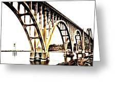Yaquina Bay Bridge - Series G Greeting Card