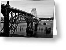 Yaquina Bay Bridge Greeting Card by Benjamin Yeager