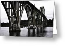 Yaquina Bay Bridge - Series J Greeting Card