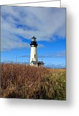 Yaquina Bay Lighthouse In Oregon Greeting Card
