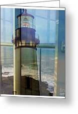 Yaquina Head Lighthouse Mirage  Greeting Card