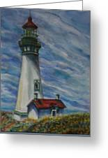 Yaquina Head Lighthouse Original Painting Greeting Card
