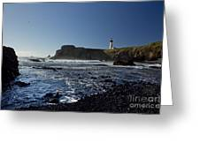 Yaquina Lighthouse And Beach No 1 Greeting Card