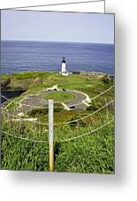 Yaquina Lighthouse From Salal Hill Trail  Greeting Card