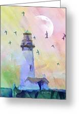 Yaquina Lighthouse Greeting Card