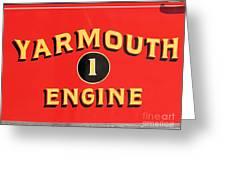 Yarmouth Engine 1 Greeting Card