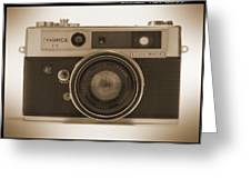 Yashica Lynx 5000e 35mm Camera Greeting Card by Mike McGlothlen