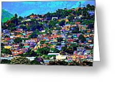 Yauco On The Hill Greeting Card