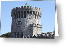 Ye Old Castle Clock Tower Greeting Card
