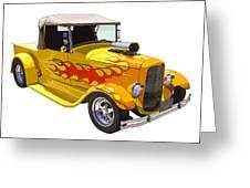 Yellow 1928 Hotrod Pickup Truck  Greeting Card