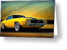 Yellow 1969 Camaro Ss Greeting Card