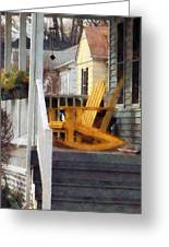 Yellow Adirondack Rocking Chairs Greeting Card