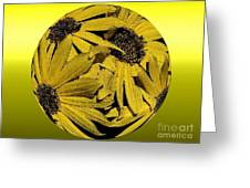 Yellow And Gold Greeting Card