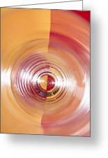 Yellow And Red Abstraction Greeting Card