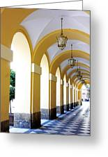 Yellow Arches Greeting Card
