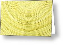 Yellow Arcs Greeting Card
