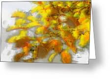Yellow Autumn Greeting Card