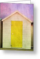 Yellow Beach Hut Greeting Card