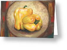 Yellow Bell Peppers Greeting Card