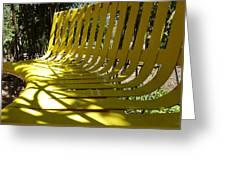 Yellow Bench Greeting Card