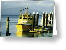 Yellow Boats Greeting Card by Ellen Henneke
