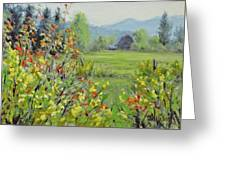 Yellow Broom Spring Greeting Card