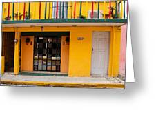 Yellow Buidling Mexico Greeting Card